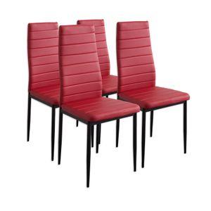 Esszimmerstühle MILANO, 4-er SET, Rot