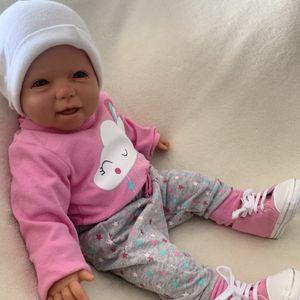 Baby Mädchen Set 4-teilig Body Hose Söckchen + Schuhe Gr. 3-6 Monate (62/68)