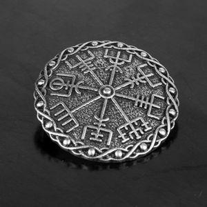 Keltisch Wikinger Brosche Anstecker Kragen Button, Keltenknoten Mittelalter 3,9 x 3,9 cm Silber 2