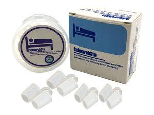 scarlet health | Nasendilatator »SchnarchSto« (4 Stück in 2 Größen mit Aufbewahrungsbox); leichtere Atmung bei Nasenverengung; bei Schnarchen angenehmer als Nasenklammer oder Kinnriemen, Farbe:Transparent