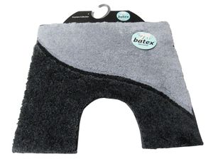 BATEX WC-Vorleger MELODIE grau/anthrazit 60x55cm mit Ausschnitt