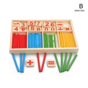 Holz Montessori Mathematik Anzahl Frühen Lernen Zählen Sticks Kinder Spielzeug