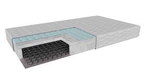 Matratze mit Buchweizen, Modena (80x180cm) H3 mittelhart, Bonnelfedern und Polyuewthane foam im antiallergische Abdeckung