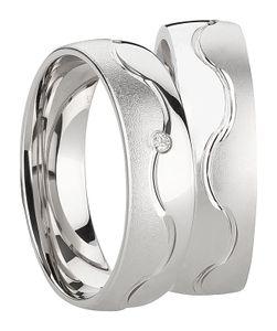 Paar Ringe aus 925 Silberringe - Freundschaftsringe Partnerringe Verlobungsringe Ehering aus 925 Sterlingsilber  mit Diamant und er Gravur Antragsringe Hochzeitsringe Trauringe