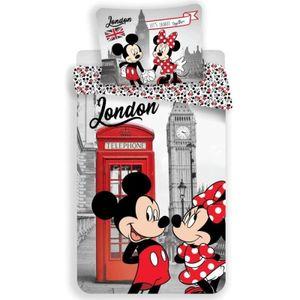 Minni und Mickey Maus London Disney - Bettwäsche  - Set 135|140x200 Baumwolle