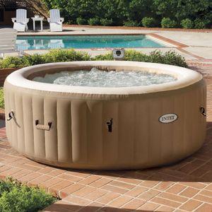 Intex 28408 Pure Spa Bubble Massage aufblasbares rundes Becken 216x 7x 165cm , 6 Personen
