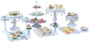 12 Stüke Tortenständer Set 3 Etagen Kuchenständer Cupcake Stand Desserthalter Glaskristall Platte Set Nachbildung Gestell für Obst Geburtstag Hochzeitsfeier