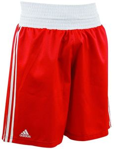 adidas Amateur Boxing Short rot / Weiß-L