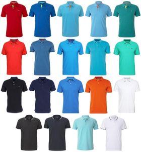 Tom Tailor Basic Polo & Piquee Polo Herren Poloshirts 'Jedes Teil ein Unikat', Größe:L, Tom Tailor Farben:Simply Blue