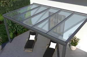 REXOpremium Alu Terrassendach 4m x 2m, VSG-Glas