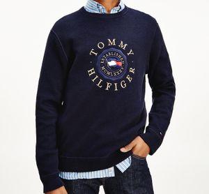 Tommy Hilfiger Herren Pullover Sweatshirt Rundhal Navy L