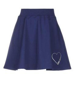 LOVE MOSCHINO Damen Marken-Skaterrock, blau, Größe:42