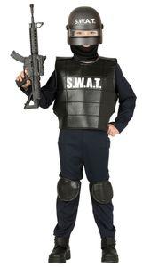 Fiestas Guirca kostüm SWAT junior schwarz Größe 125-135