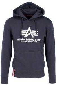 ALPHA INDUSTRIES - Basic Herren Hoody 178312 Print Kapuzenpullover, Größe:3XL, Alpha Industries Farben:Iron Grey