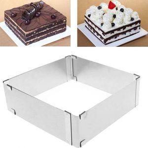 Backrahmen ausziehbar  verstellbarer Backrahmen Tortenrahmen rechteckig, Menge: 1 Stück