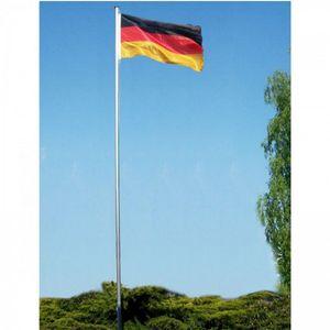 Alu Fahnenmast ca. 6 Meter mit Deutschland Flagge