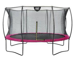 Trampolin EXIT Silhouette mit Sicherheitsnetz Ø427cm pink