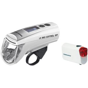 Trelock LED-Batterieleuchten-Set Control Ion LS 950/720 Ion 70 mit Hal