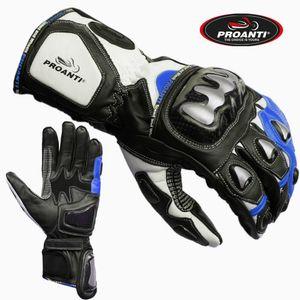 Motorradhandschuhe Racing Pro blau von PROANTI® - Größe L