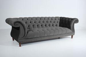 Max Winzer Ivette Sofa 3-Sitzer - Farbe: anthrazit - Maße: 253 cm x 100 cm x 80 cm; 2994-3880-2044214-F07