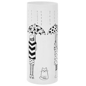 vidaXL Regenschirmständer Frauen-Design Stahl Weiß