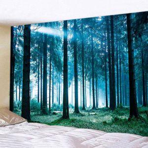 3D Natur Wald Wandteppich Wohnkultur Tapisserie Wandbider Strandtuch Wandbehang Leinwandbild Farbe : A