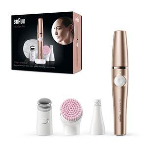 Braun FaceSpa Pro SE921, All-in-One Beauty-Gerät zur Gesichts-Epilation, inkl. Gesichtsepilierer, Aufsatz zur Hautstraffung & Gesichtsreinigungsbürste
