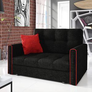 Mirjan24 Schlafsofa Viva Bis II mit Bettkasten und Schlaffunktion, 2-Sitzer Couch vom Hersteller, Wohnzimmer Polstersofa (Alova 04 + Alova 46)