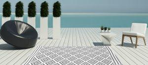Outdoor Kunststoffteppich Austin 150x240 grau Garten, Terrasse Jet-Line
