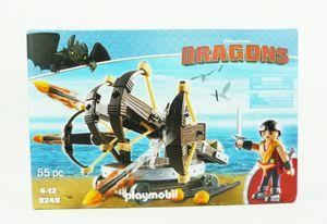 Playmobil 9249 Dragons Drachenzähmen Eret mit 4-Schuss-Feuer-Balliste
