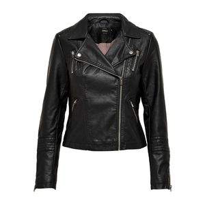 Only Gemma Faux Leather Biker Black 44