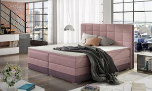 Boxspringbett Bett PRATO Webstoff Violett/ Rosa 160x200cm
