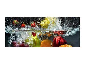 Obst Wasser Glasbilder XXL Glass 125 x 50cm AG312502198