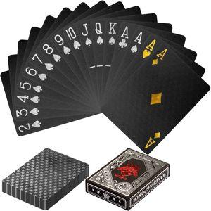 Poker Deck, Pokerkarten Kartendeck Schwarz/Silber