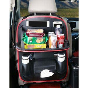 1X Auto Rücksitz Organizer Rücklehnenschutz Kunstleder Autositz Rückenlehnentasch