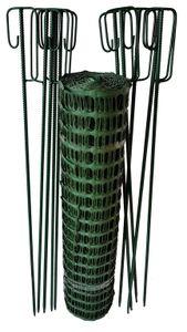 Fangzaun grün 7,50 kg +10 Laterneneisen Schneefangzaun Setpreis