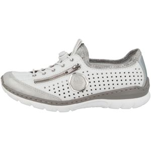 rieker Damen Halbschuhe Weiß Schuhe, Größe:38