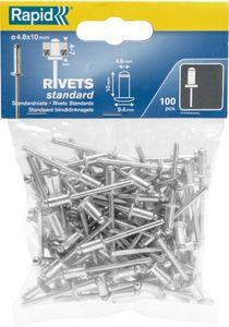 Rapid® Blindnieten Standard Ø 4,8 x 10 mm 100 Stk. Beutel Rapid (1 Stk.)