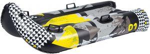 Restart Aufblasbare Schneegleiter Downhill Racer Schwarz/Grau/Gelb, Größe:OneSize