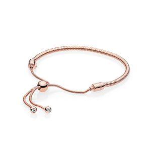 Pandora Rose 587125CZ Charm-Armband Moments Rose Sliding