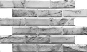 3D FLIESENBILD Wandpaneele Wandverkleidung PVCVerkleidung Marble Marmor Wandbild Steinimitation