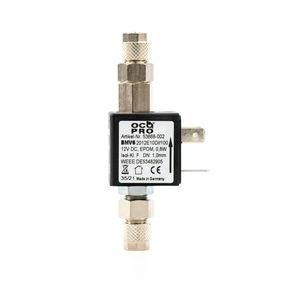 OCOPRO CO2-Magnetventil/Nachtabschaltung 12V (mit Rückschlagventil) OHNE Kabel/Stecker (mit Rückschlagventil)