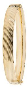 Eleganter 9 Karat (375) Gold Damen - klappbarer Armreif - 10mm, 8 Gramm; WJS20669