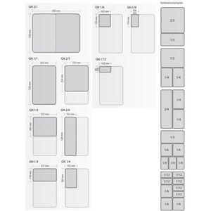 GN Behälter Deckel Edelstahl 1 3