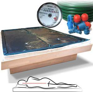 Zwei Wasserbettmatratzen 180x200 - 0 Sekunden Nachschwingzeit + Sicherheitswanne + Schlauch + Wasserzähler