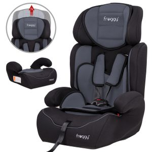 FROGGY Autokindersitz Gruppe I/II/III (9-36 kg) + Sicherheitsnorm ECE R44/04 + 5-Punkte-Sicherheitsgurt + verstellbare Kopfstütze  Grau