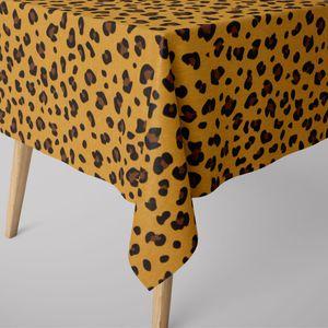 SCHÖNER LEBEN. Tischdecke Ottoman Leopardenmuster gelb verschiedene Größen, Tischdecken Größe:130x200cm