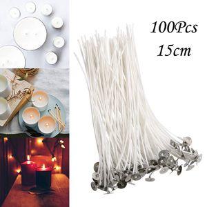 Leichte 100-teilige Baumwollkerze Docht 15 cm vorgewachst für die Kerzenherstellung, Kerze DIY