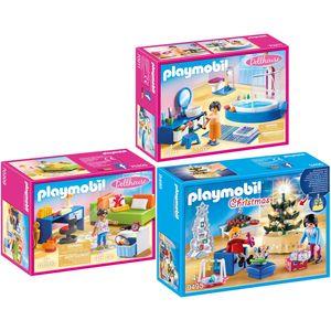 PLAYMOBIL 9495-70209-11 Dollhouse 3er Set Weihnach