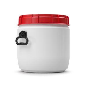 26 Liter Weithalsfass Tonne Drehdeckelfass Schraubdeckelfass weiß (26 CT SW)